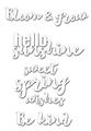 Set of 4 Sweet Spring Phrase Dies - CUTplorations