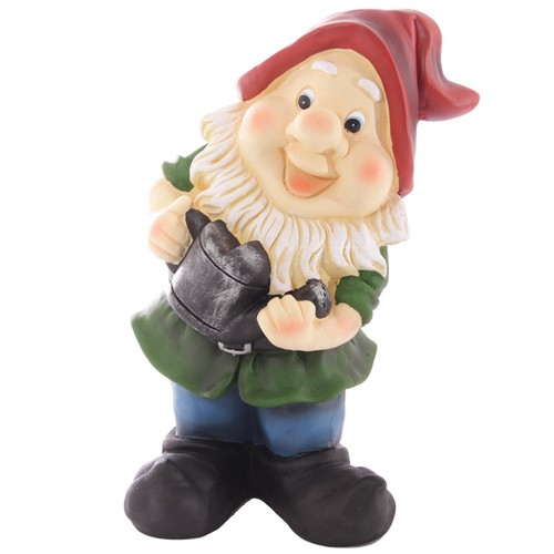 cute novelty garden gnome holding watering can aura giftware