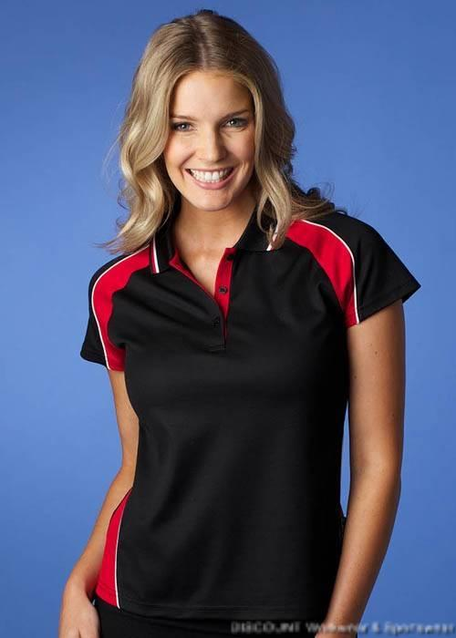 Panorama Ladies 14 Tri Colours Cotton Lined Pique Knit Polo 6-26  Aussis Pacific