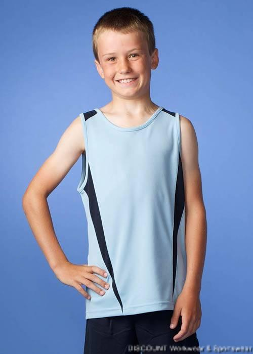 Eureka Kids 23 Colours DriWear Cool Singlet   6-16  Aussie Pacific