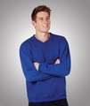 Adults Fleecy Sweat Sloppy Joe Windcheater Jumper V Neck Black/Navy/Royal Blue XS-5XL  Blue Whale