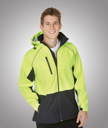 hi vis fluro soft shell water wind proof comfortable hooded jacket 4xl 5xl blue whale tite ass. Black Bedroom Furniture Sets. Home Design Ideas
