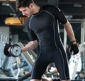 Mens Compression Performance Wear -  Short Sleeve Top, Bocini CT0982, size S - 3XL