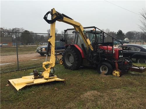 railroad hirail massey ferguson tractor with alamo matchette brush cutter unit