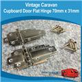 Caravan CUPBOARD DOOR FLAT HINGE 2PIECE 70MM X 31MM