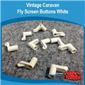 Caravan Fly Screen Clips White ( 10 )