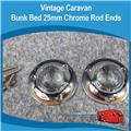 Caravan  Chrome Flange Rod Ends 25mm