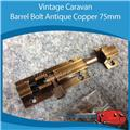 Caravan BARREL BOLT ANTIQUE COPPER 75MM