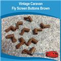 Caravan Fly Screen Clips Brown x 10 Vintage Screen Buttons  Viscount, Franklin