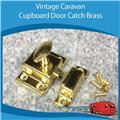 Caravan CUPBOARD DOOR CATCH BRASS