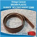 Caravan BROWN PLASTIC RUBBER MOULDING INSERT 22MM