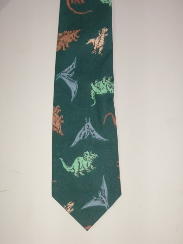 Men's Dinosaur Necktie - Great for the Paleontologist