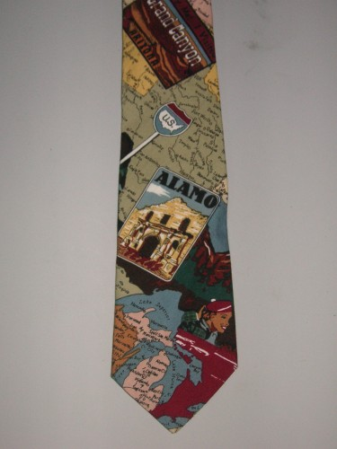 Men's Travel Necktie - Great for the World Traveler