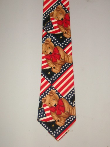 Men's Teddy Bears Necktie - Great for the Patriot