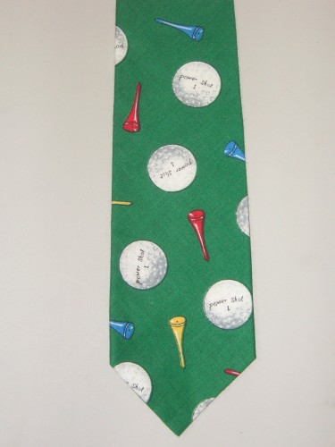 Men's Golf Necktie - Great for the Golfer