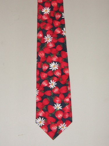 Men's Strawberry Necktie - Great for the Chef