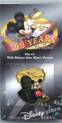 Disney Walt Disney & Mickey 100 Years#1 Pin/Pins
