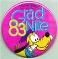 Disney  Pluto Grad night 1983 Disneyland Park Pin/Pins