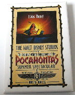 Disney  Pocahontas  promotional pin/pins