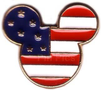 Disney  USA Mickey Head Flag Icon Pin/Pins
