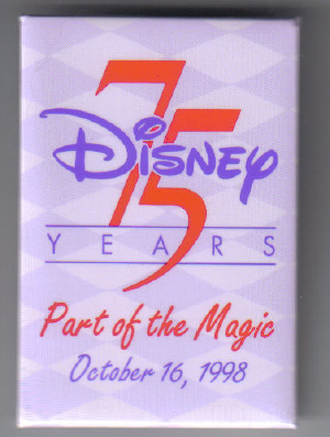 Disney 75 Years of Magic 1998 Castmember Only Pin/Pins