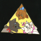 Disney Auctions P.I.N.S Peek-a-Boo Aristocats Le 500 Pin