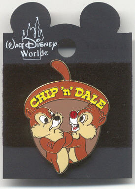 Disney Chip & Dale acorn on backer card  Pin/Pins