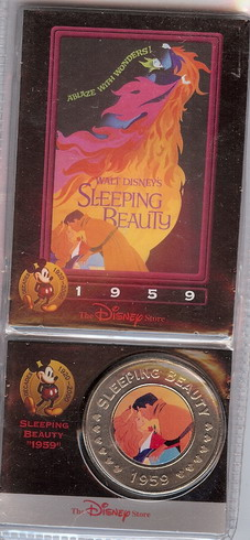 Disney Sleeping Beauty dated 1959 Decades Coin