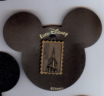 Disney Bronze Castle Stamp Like Rare Pin/Pins