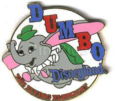 Disney Dumbo Elephant DL -1998 Attraction Ride on original card Pin/Pins