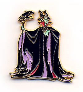 Disney Maleficent Diablo Full Body Pin Pins
