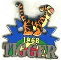Disney Tigger 1968 slider retired rare pin/pins