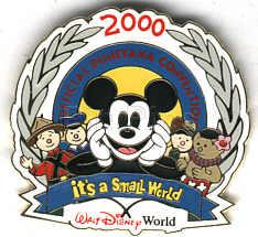 Disneyana Convention -Mickey Small World pin/pins