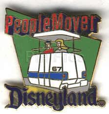 Disney DL - 1998  Attraction People Mover ride Pin/Pins