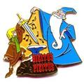 Disney Merlin with Arthur  the sword from the stone pin