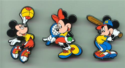 Disney Basketball, Baseball Tennis  3 Pin/Pins