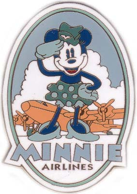 Disney Minnie Mouse vintage Airlines Auction Pin/Pins