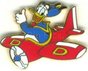 Disney Donald Duck Flying  pilot  Never Sold Pin/Pins