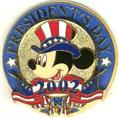Patriotic Mickey Mouse President's Day Pin/Pins