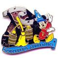 Disney Mickey Sorcerer with brooms Fantasia   Pin/Pins