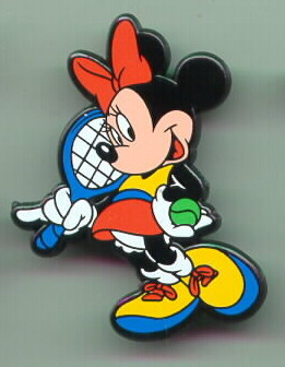 Disney  Minnie Mouse Tennis Rare English Pin/Pins