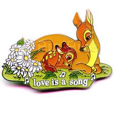 Disney Bambi with mother Love is a Song Pin/Pins