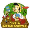 Disney Pinocchio & Jiminy Cricket  Music Notes Pin/Pins