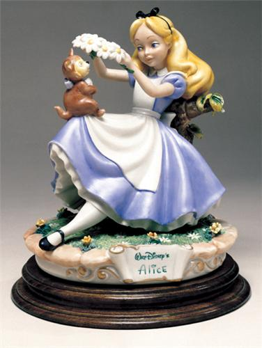 Alice & Cat Capodimonte Dsiney Repaired