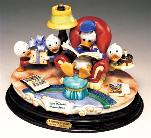 Capodimonte Donald Duck & Nephews Comics