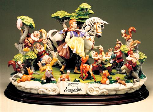 Disney Capodimonte Snow White & 7 Dwarfs 50th Anniv.Ed.