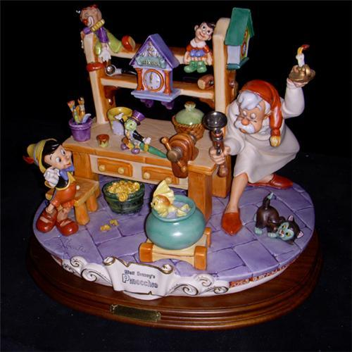 Disney Capodimonte Pinocchio & Gepetto Workshop