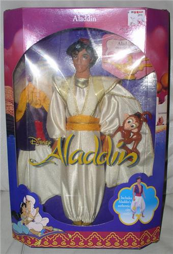 Aladdin with costume and Abu Doll