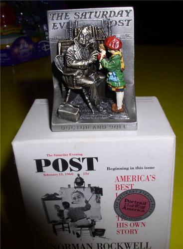 American Norman Rockwell Doctor and Doll  Figurine