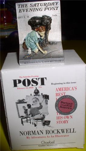 American Norman Rockwell Marbles Champion  Figurine